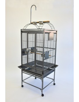 "24X22"" Play Top Parrot Cage with Toy Hanger Conure Quaker"