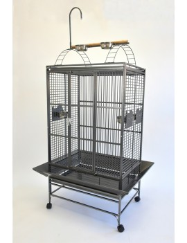"32X23"" Play Top Parrot Cage with Toy Hanger African Grey Amazon Cockatoo"
