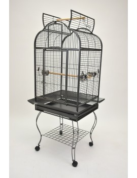 Stylish open top style parrot cage with stand-on balcony