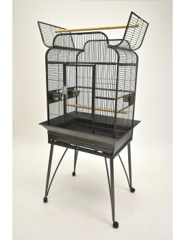 "26x20"" Victorian Style Parrot Bird Cage with Open Top"