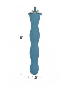 Wave Shape Cement Pedi Bird Perch Medium