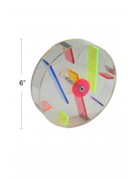Acrylic Foraging Wheel for Bird and Parrot