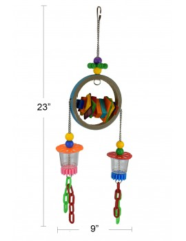 Super Bagel Foraging Bird Parrot Toy