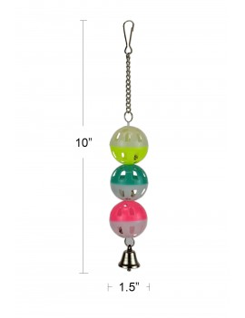 Hanging Bird Toy with Triple Balls and Bell