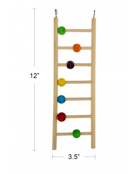 Wooden Bird Ladder with Beads 7 Steps