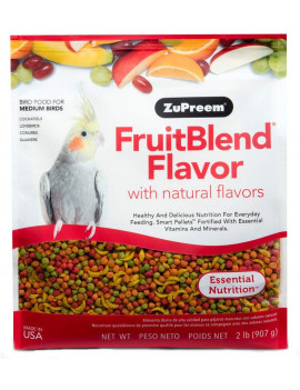 Zupreem Fruitblend Bird Food Medium (2lbs)