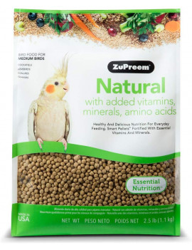 ZuPreem Natural Mdium Bird Food  (2.5lbs)