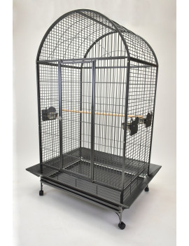 "40x30"" Extra Large Dome Top Parrot Bird Cage for Macaw Cockatoo"