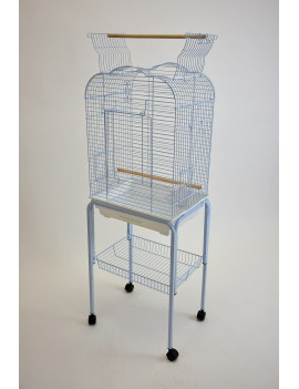 Victorian Style Open Top Parrot Bird Cage with Rolling Stand