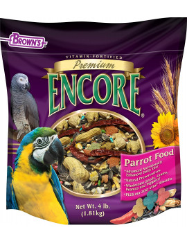 Brown's Encore Premium Parrot Bird Food (4 lb)