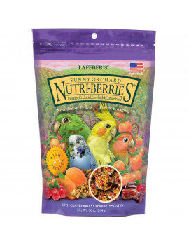 Lafeber's Sunny Orchard Nutri-Berries for Cockatiels 10oz
