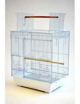 Square Small Bird Cage with Open Top Feature