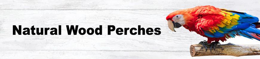 Natural Wood Perches for Birds and Parrots   Petsfella.com